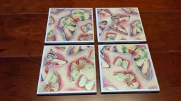 Rainbow Butterflies Coasters