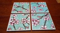 Cherry Blossom Coasters