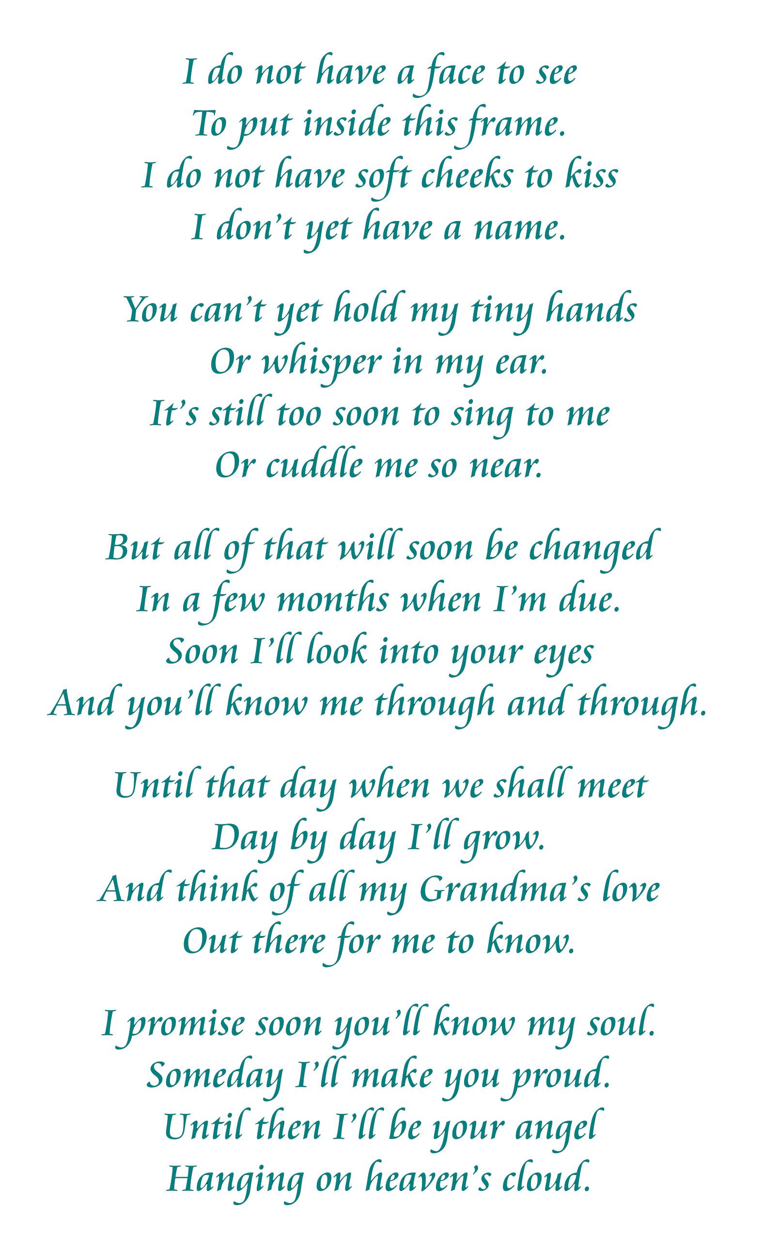 unborn baby poems - photo #33