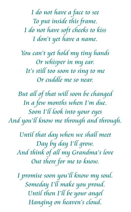 Poem to Grandma From Baby Bundle