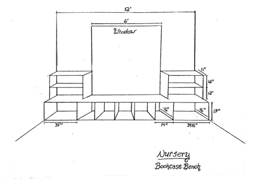 Bookcase Bench Design A